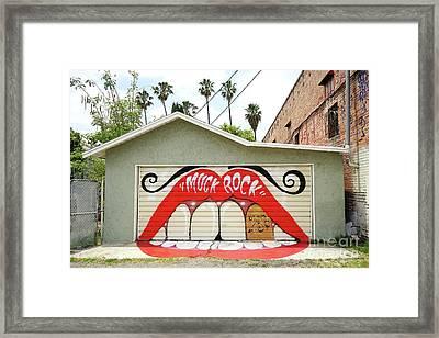 Muck Rock Framed Print