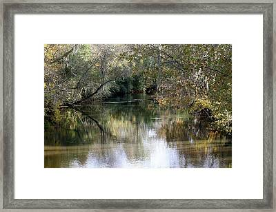 Framed Print featuring the photograph Muckalee Creek by Jerry Battle