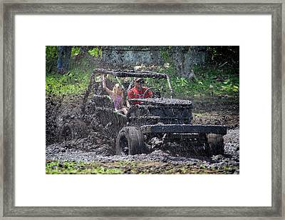 Mud Bogging Framed Print