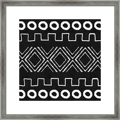 Mud Cloth 1- Art By Linda Woods Framed Print