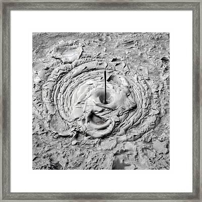 Mud Pool Framed Print