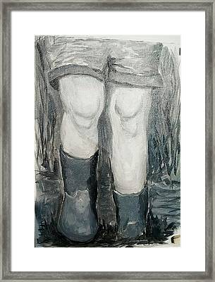 Mud Puddle Framed Print by Abby Reid