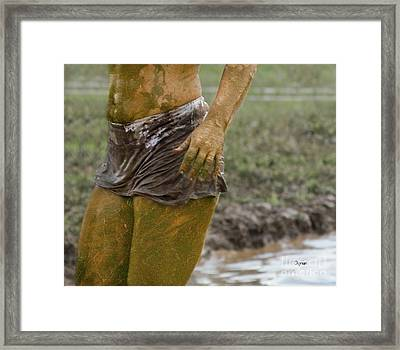 Mud Woman  Framed Print by Steven Digman