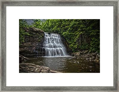 Muddy Creek Falls Framed Print