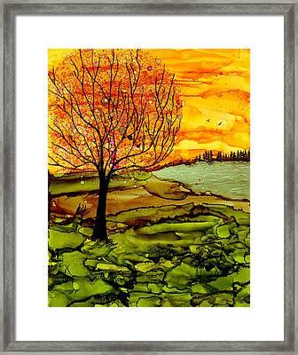 Muddy Fall Framed Print