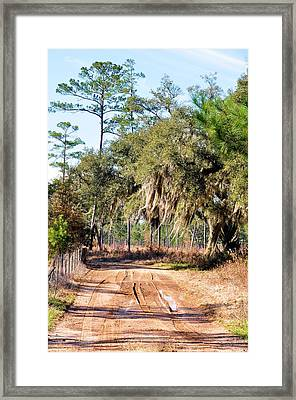 Muddy Road Framed Print by Jan Amiss Photography