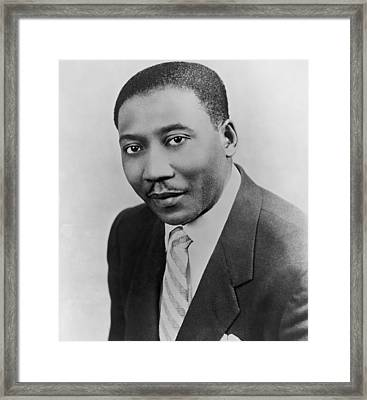 Muddy Waters 1915-1983, Blues Guitarist Framed Print