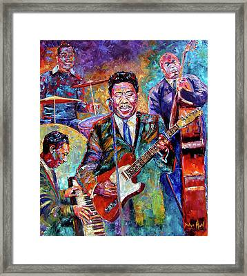 Muddy Waters And His Band Framed Print by Debra Hurd