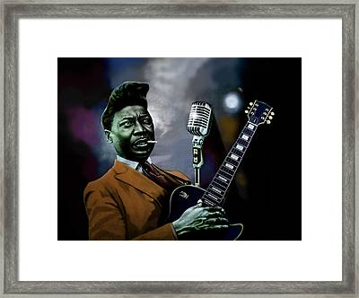 Framed Print featuring the mixed media Muddy Waters - Mick Jagger's Grandfather by Dan Haraga