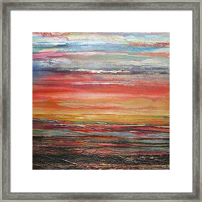 Mudflats Budle Bay Evening Light No2 Framed Print by Mike   Bell
