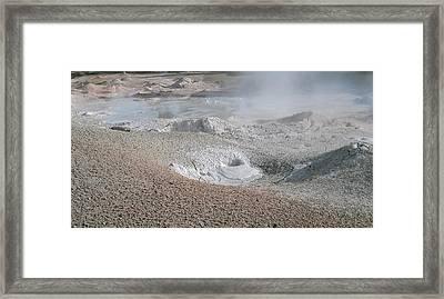 Mudpots Of Yellowstone Framed Print