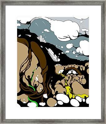 Mudslide Serenity Framed Print