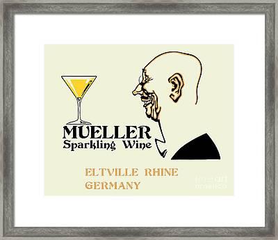 Mueller Sparkling Wine Framed Print