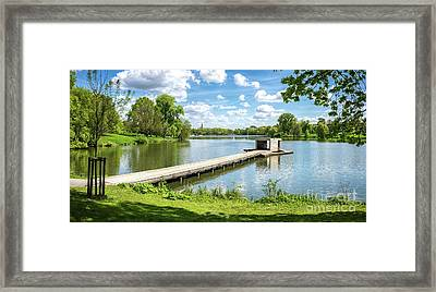 Muenster Aasee Panoramic View Framed Print