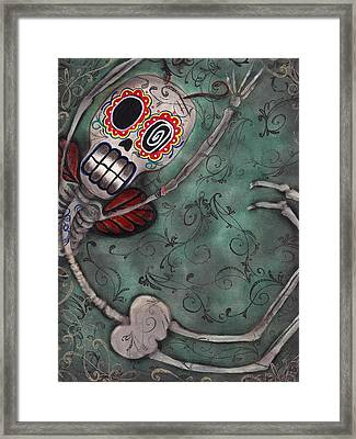 Muerte Fairy Framed Print by  Abril Andrade Griffith