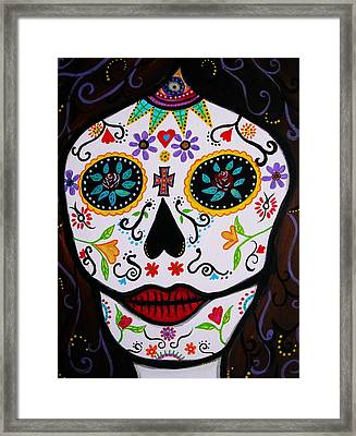 Framed Print featuring the painting Muertos by Pristine Cartera Turkus