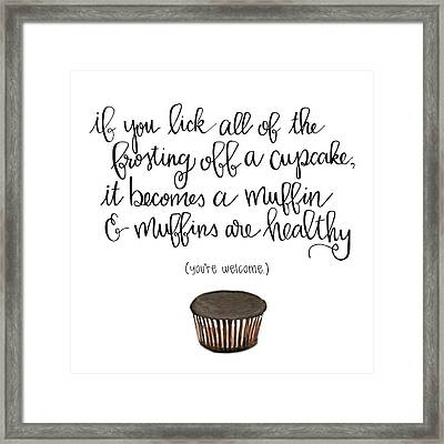 Muffins Framed Print by Nancy Ingersoll