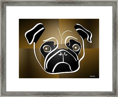 Mug Of A Pug Framed Print by Stephen Younts