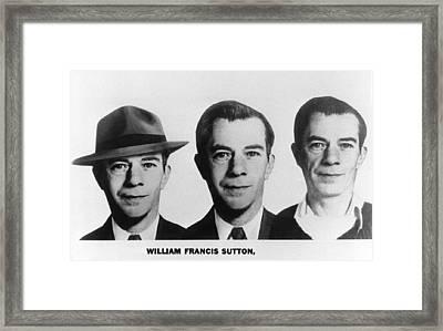 Mug Shots Of Willie Sutton 1901-1980 Framed Print