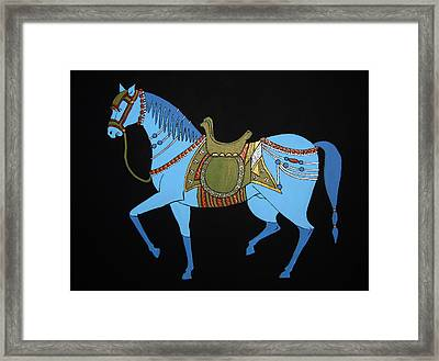 Framed Print featuring the painting Mughal Horse by Stephanie Moore