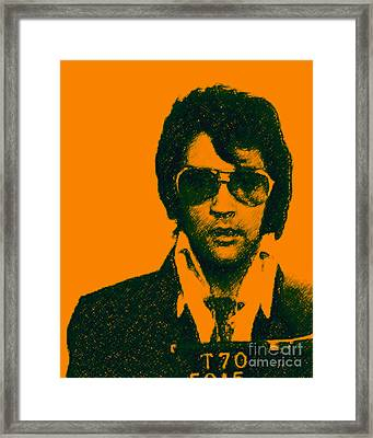 Mugshot Elvis Presley Framed Print by Wingsdomain Art and Photography