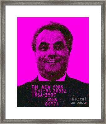 Mugshot John Gotti M88 Framed Print by Wingsdomain Art and Photography