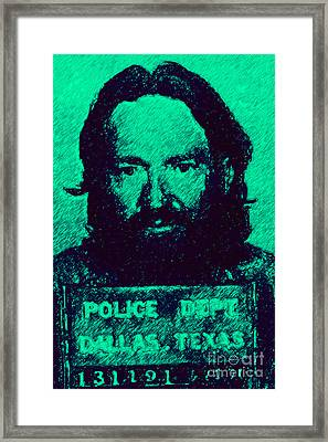 Mugshot Willie Nelson P28 Framed Print by Wingsdomain Art and Photography