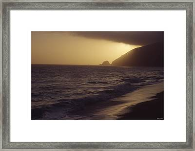 Mugu Rock - Pacific Coast Highway Framed Print by Soli Deo Gloria Wilderness And Wildlife Photography