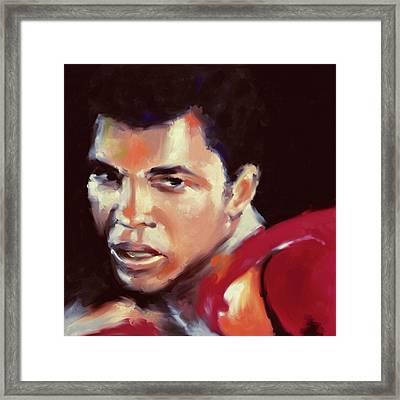 Muhammad Ali 551 3 Framed Print by Mawra Tahreem