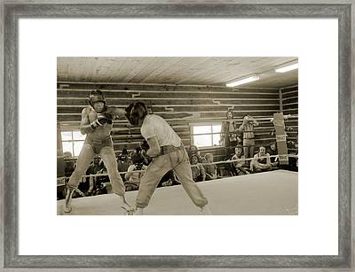 Muhammad Ali And Ernie Jones Spar Framed Print