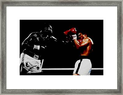 Muhammad Ali And Larry Holmes Framed Print