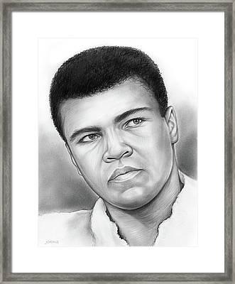 Muhammad Ali Framed Print by Greg Joens