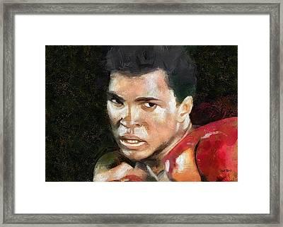 Muhammad Ali - Legend Framed Print by Wayne Pascall