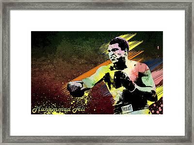 Muhammad Ali  Framed Print by Manjot Singh Sachdeva