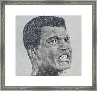 Muhammad Ali Framed Print by Stephen Sookoo