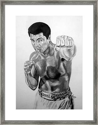 Muhammad Ali Framed Print by Van Beard