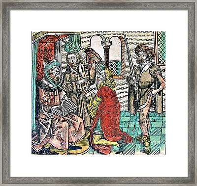 Muhammad, Nuremberg Chronicle, 1493 Framed Print by Science Source
