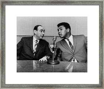 Muhammed Ali And Howard Cosell Framed Print by Everett