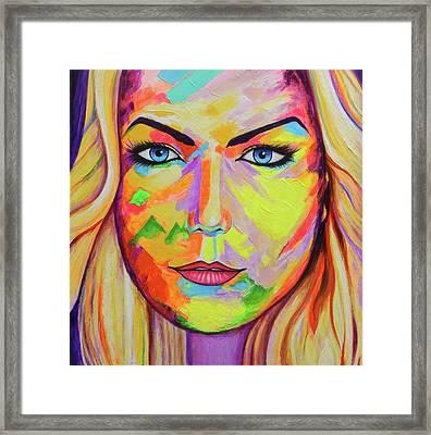 Mujer Framed Print by Angel Ortiz
