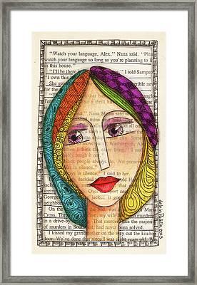 Mujer Framed Print by Delein Padilla