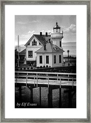 Framed Print featuring the photograph Mukilteo Lighthouse by Elf Evans