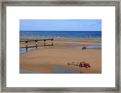 Mulberry Harbour, Omaha Beach, Normandy Framed Print by Aidan Moran