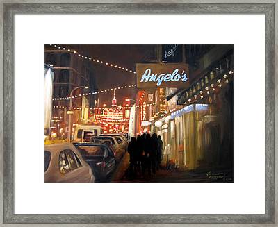 Mulberry St. Nyc Framed Print by Leonardo Ruggieri