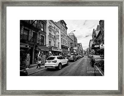mulberry street little italy New York City USA Framed Print