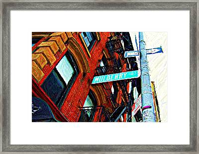 Mulberry Street Sketch Framed Print by Randy Aveille