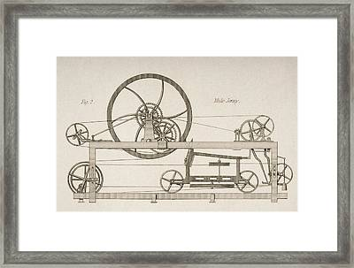 Mule-jenny Drawn By J.w. Lowry In 1830s Framed Print by Vintage Design Pics