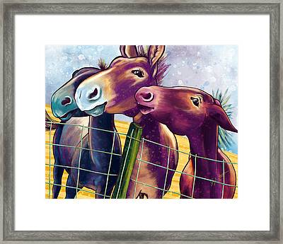 Mulin' About Framed Print