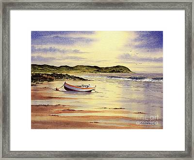 Framed Print featuring the painting Mull Of Kintyre Scotland by Bill Holkham