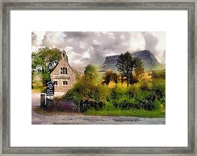 Mullaghnaneane Church And Ben Bulben Framed Print