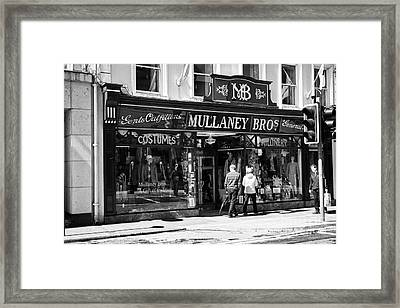 Mullaney Brothers Traditional Irish Gents Outfitters And General Store Sligo Republic Of Ireland Framed Print by Joe Fox